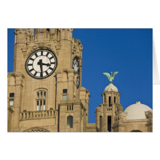 Liver Building, Liverpool, Merseyside, England Card