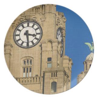 Liver Building, Liverpool, Merseyside, England Dinner Plate
