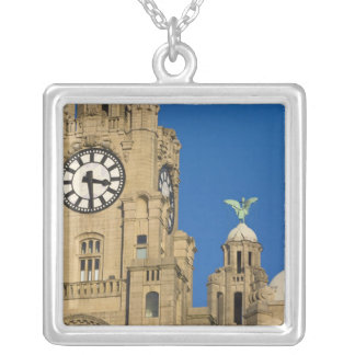 Liver Building, Liverpool, Merseyside, England Silver Plated Necklace