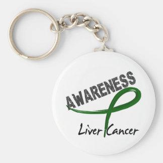 Liver Cancer Awareness 3 Keychain