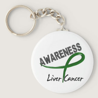 Liver Cancer Awareness 3 Keychain
