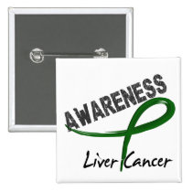 Liver Cancer Awareness 3 Pinback Button