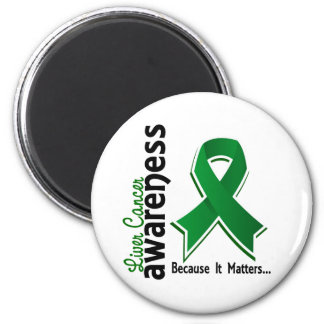 Liver Cancer Awareness 5 2 Inch Round Magnet