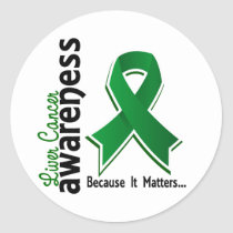 Liver Cancer Awareness 5 Classic Round Sticker