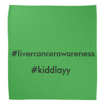 Liver cancer awareness bandanna