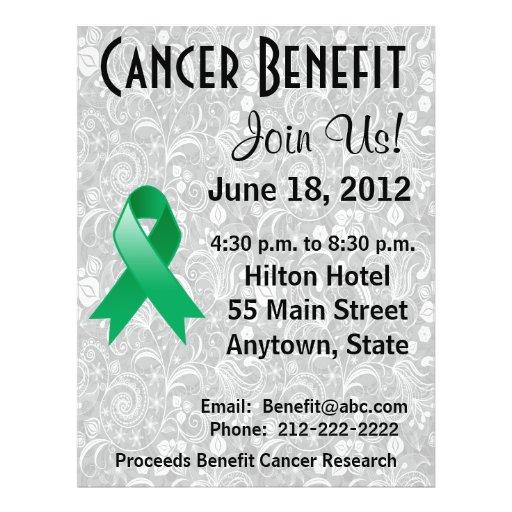 Liver Cancer Awareness Benefit Gray Floral Flyer