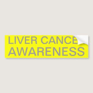 Liver Cancer Awareness Bumper Sticker