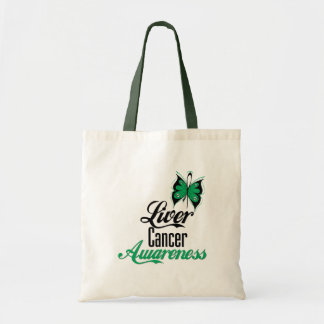 Liver Cancer Awareness Butterfly Tote Bag