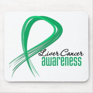 Liver Cancer Awareness Grunge Ribbon Mouse Pad