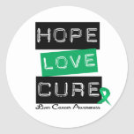 LIVER CANCER Awareness Hope Love Cure Classic Round Sticker