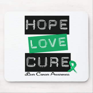 LIVER CANCER Awareness Hope Love Cure Mouse Mat