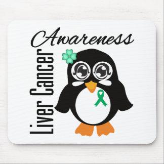 Liver Cancer Awareness Penguin Mouse Pads