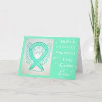 Liver Cancer Awareness Ribbon Greeting Card