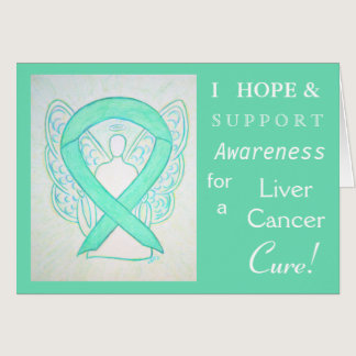 Liver Cancer Awareness Ribbon Greeting Card