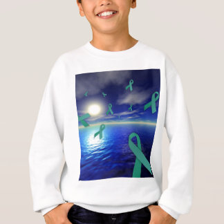 Liver Cancer Awareness Ribbons Over The Ocean Sweatshirt
