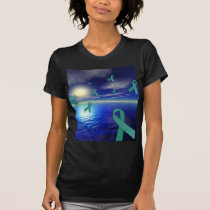 Liver Cancer Awareness Ribbons Over The Ocean T-Shirt