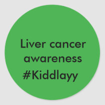 Liver cancer awareness stickers #Kiddlayy