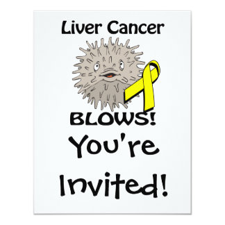 Liver Cancer Blows Awareness Design Personalized Invitation