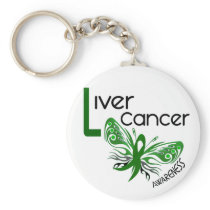Liver Cancer BUTTERFLY 3.1 Keychain