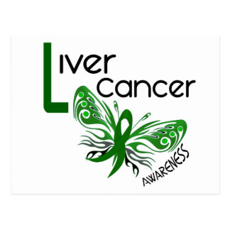 Liver Cancer BUTTERFLY 3.1 Postcards