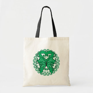 Liver Cancer Butterfly Circle of Ribbons Budget Tote Bag