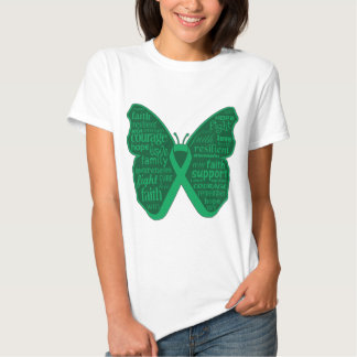 Liver Cancer Butterfly Collage of Words T-Shirt