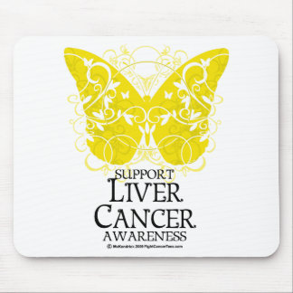 Liver Cancer Butterfly Mouse Pad