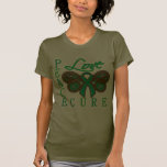 Liver Cancer Butterfly Peace Love Cure Shirts