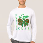 Liver Cancer Butterfly Peace Love Cure T Shirt