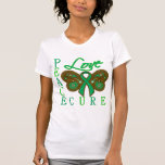 Liver Cancer Butterfly Peace Love Cure Tee Shirts
