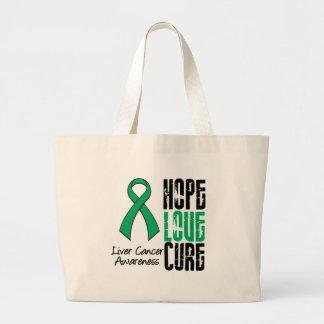 Liver Cancer Cancer Hope Love Cure Ribbon Bag