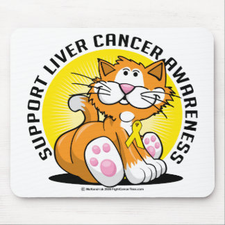 Liver Cancer Cat Mouse Pad