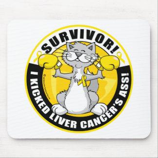 Liver Cancer Cat Survivor Mouse Pad