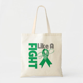 Liver Cancer Chic Fight Like A Girl Ribbon Budget Tote Bag