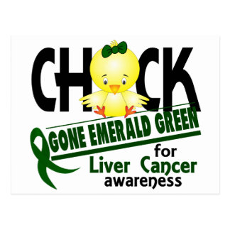 Liver Cancer Chick Gone Emerald Green 2 Postcard