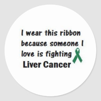 Liver Cancer Classic Round Sticker