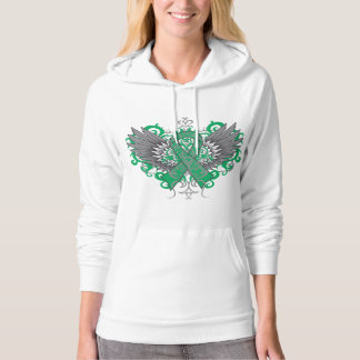 Liver Cancer Cool Wings Hooded Sweatshirt