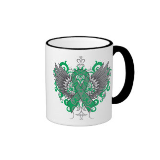 Liver Cancer Cool Wings Ringer Coffee Mug