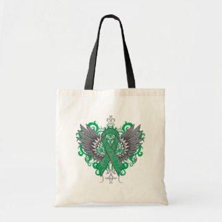 Liver Cancer Cool Wings Tote Bags