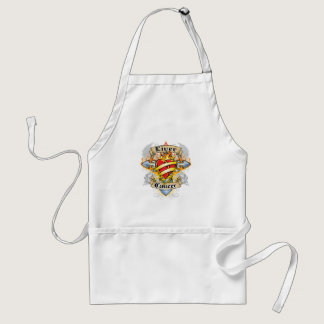 Liver Cancer Cross & Heart Adult Apron