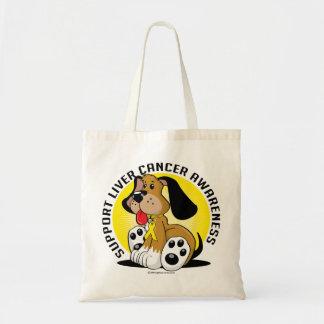 Liver Cancer Dog Tote Bag