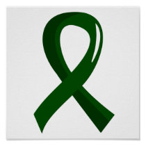 Liver Cancer Emerald Green Ribbon 3 Poster