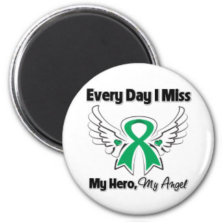 Liver Cancer Every Day I Miss My Hero Fridge Magnet