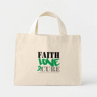 Liver Cancer Faith Love Cure Canvas Bags