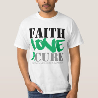 Liver Cancer Faith Love Cure T-Shirt