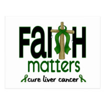 Liver Cancer Faith Matters Cross 1 Postcard