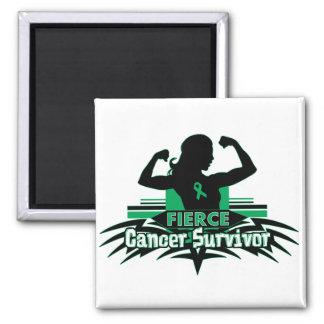 Liver Cancer Fierce Cancer Survivor Fridge Magnet