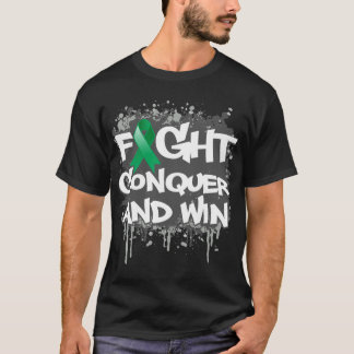 Liver Cancer Fight Conquer and Win T-Shirt