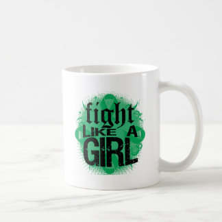 Liver Cancer Fight Like A Girl Rock Ed. Classic White Coffee Mug