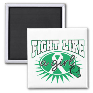 Liver Cancer Fight Like A Girl Sporty Callout Magnet